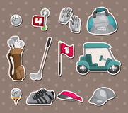 Etiquetas engomadas del golf Foto de archivo libre de regalías