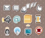 Etiquetas engomadas del icono del Web Foto de archivo