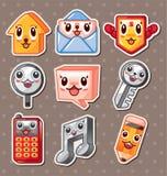 Etiquetas engomadas del icono del Web Imagen de archivo