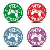 Etiquetas engomadas del juego gratis Imágenes de archivo libres de regalías
