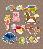 Etiquetas engomadas del juguete Imagenes de archivo
