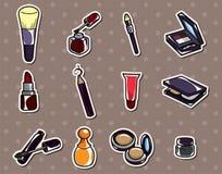 Etiquetas engomadas del maquillaje de la historieta Imágenes de archivo libres de regalías