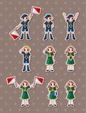 Etiquetas engomadas del muchacho/del girl scout Foto de archivo libre de regalías