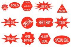 Etiquetas engomadas del negocio Fotos de archivo libres de regalías