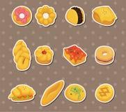 Etiquetas engomadas del pan Imagen de archivo