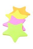 Etiquetas engomadas del papel de la forma de la estrella Fotografía de archivo libre de regalías