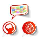 Etiquetas engomadas del pensamiento del vector Imagen de archivo libre de regalías