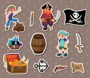 Etiquetas engomadas del pirata Foto de archivo libre de regalías