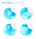 Etiquetas engomadas del planeta Foto de archivo libre de regalías