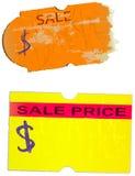 etiquetas engomadas del precio, stock de ilustración