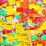 Etiquetas engomadas del precio Imagen de archivo libre de regalías