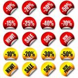 Etiquetas engomadas del precio del vector Fotografía de archivo