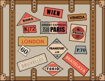 Etiquetas engomadas del recorrido Fotos de archivo libres de regalías