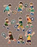 Etiquetas engomadas del tenis Fotografía de archivo libre de regalías