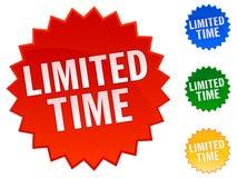 Etiquetas engomadas del tiempo limitado Fotografía de archivo libre de regalías