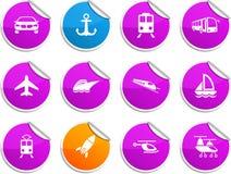 Etiquetas engomadas del transporte. Fotos de archivo