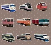 Etiquetas engomadas del tren ilustración del vector