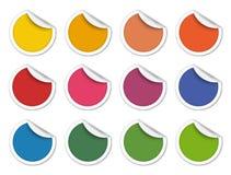 Etiquetas engomadas del vector Fotografía de archivo libre de regalías