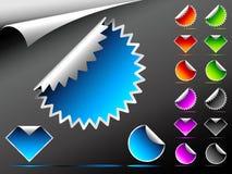 Etiquetas engomadas del vector Imagen de archivo libre de regalías
