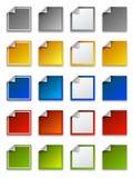 Etiquetas engomadas del Web, escrituras de la etiqueta e iconos - cuadrado Fotos de archivo