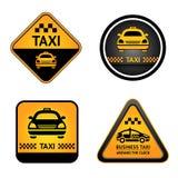 Etiquetas engomadas determinadas de la casilla de taxi Fotos de archivo libres de regalías