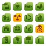 Etiquetas engomadas ecológicas Fotos de archivo libres de regalías