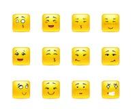 Etiquetas engomadas emocionales del animado Fotografía de archivo libre de regalías