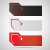 Etiquetas engomadas/escrituras de la etiqueta del color del Web,   Fotos de archivo
