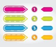 Etiquetas engomadas especiales de la flecha Foto de archivo libre de regalías
