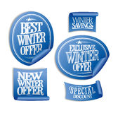 Etiquetas engomadas especiales de la oferta del invierno Imagenes de archivo