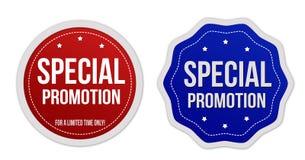 Etiquetas engomadas especiales de la promoción fijadas Fotos de archivo libres de regalías