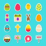Etiquetas engomadas felices de Pascua