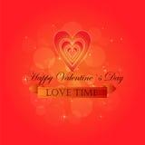 Etiquetas engomadas felices del día de tarjetas del día de San Valentín Foto de archivo libre de regalías