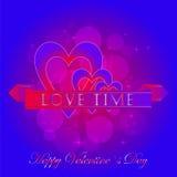 Etiquetas engomadas felices del día de tarjetas del día de San Valentín Foto de archivo