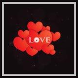Etiquetas engomadas felices del día de tarjetas del día de San Valentín Fotos de archivo libres de regalías