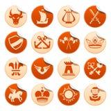 Etiquetas engomadas heráldicas Stock de ilustración