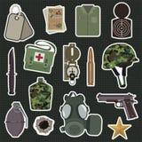 Etiquetas engomadas militares Imagen de archivo libre de regalías