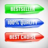 Etiquetas engomadas. Modelo de la etiqueta de la venta Foto de archivo libre de regalías