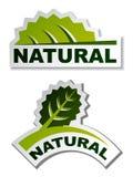 Etiquetas engomadas naturales de la hoja Fotografía de archivo