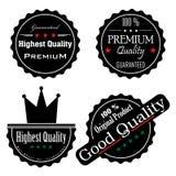 Etiquetas engomadas negras de la alta calidad Imágenes de archivo libres de regalías