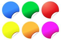 Etiquetas engomadas o escrituras de la etiqueta coloridas Foto de archivo libre de regalías