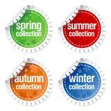 Etiquetas engomadas para la colección estacional Fotografía de archivo libre de regalías