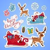 Etiquetas engomadas para la Navidad Imagen de archivo libre de regalías
