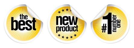 Etiquetas engomadas para los mejores nuevos productos