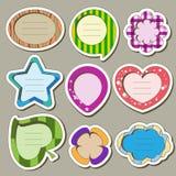 Etiquetas engomadas para los niños Imágenes de archivo libres de regalías