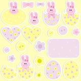 Etiquetas engomadas para Pascua ilustración del vector