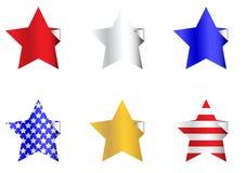 Etiquetas engomadas patrióticas de la estrella Imágenes de archivo libres de regalías