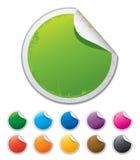 Etiquetas engomadas peladas coloridas Stock de ilustración