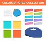 Etiquetas engomadas planas coloridas Fotografía de archivo libre de regalías