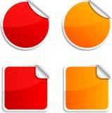 Etiquetas engomadas redondas. Imágenes de archivo libres de regalías